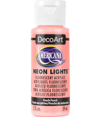 Americana Acryl Verf Neon Lights  Peach Punch