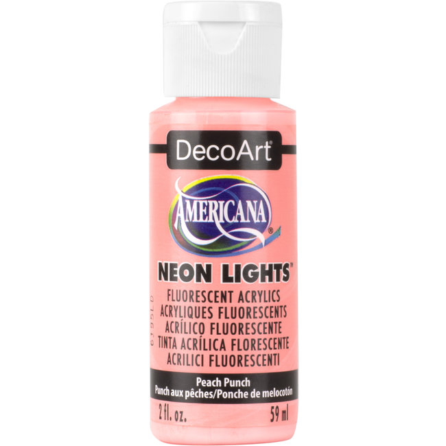 DecoArt Americana Acryl Verf Neon Lights Peach Punch