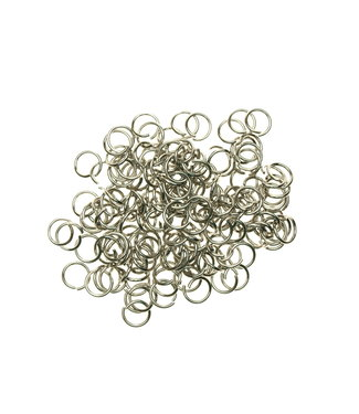 Stainless steel jump rings 8 mm. thickness 1,0 mm. 50 pieces