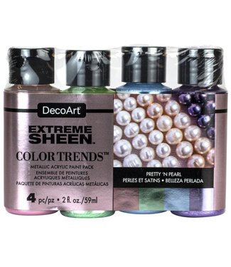 DecoArt Verf Extreme Sheen Pack - Pretty 'n Pearl -