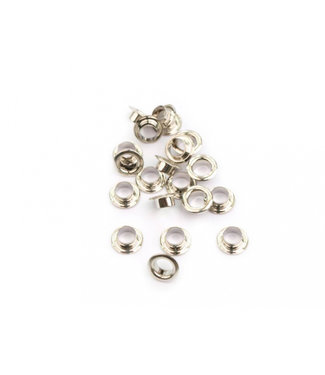 10 pairs of Eyelet cores in Platinum color