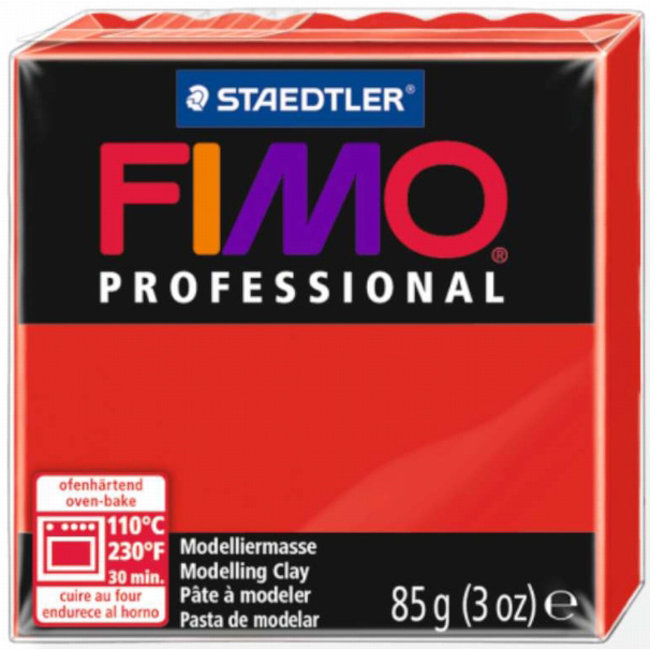 Staedtler Fimo Professional Primary Red (200)  3 oz - 85 g