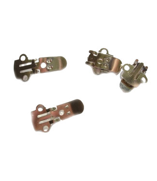 Shoes clips nickel color 27 x 14 mm. by pair