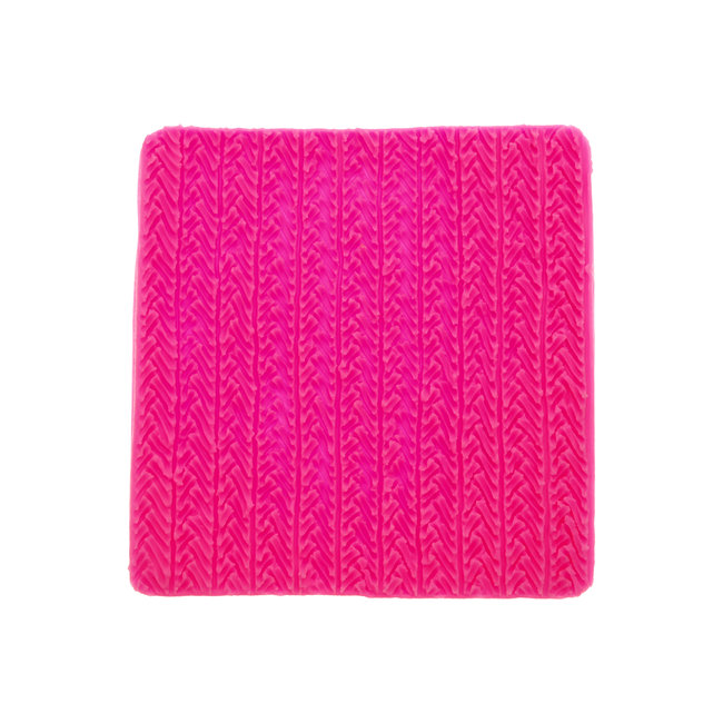 Silicone Mold Knitted 9,6 x 9,9 cm.