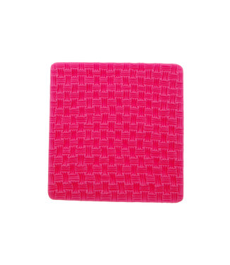 Silicone Mold Basket Weave 9,6 x 9,9 cm.