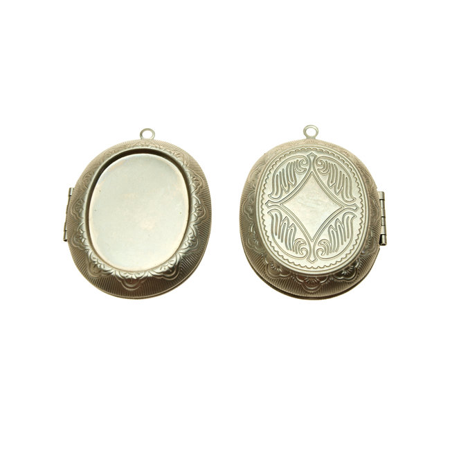 Pendant Medallion Oval 52 x 39 mm. Stainless steel per piece