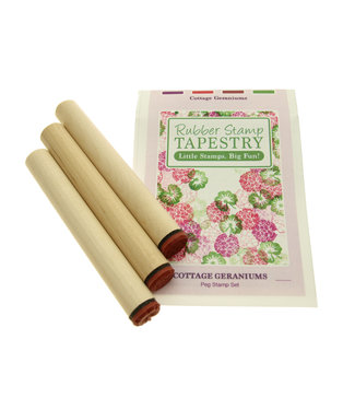 Rubber Stamp Tapestry Set - Cottage Geraniums
