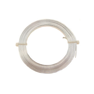 Aluminum Wire Silver colored flat 3 x 1 mm. 2 meters