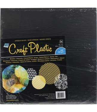 Craft Plastic Sheets Opaque Black 12 x 12 inch 25 pieces