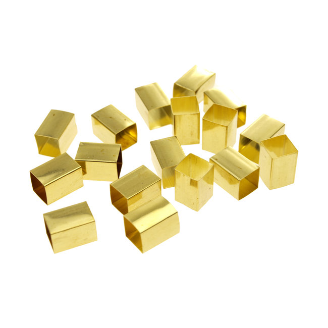 Square brass tube 8 x 8 mm. height 12 mm.