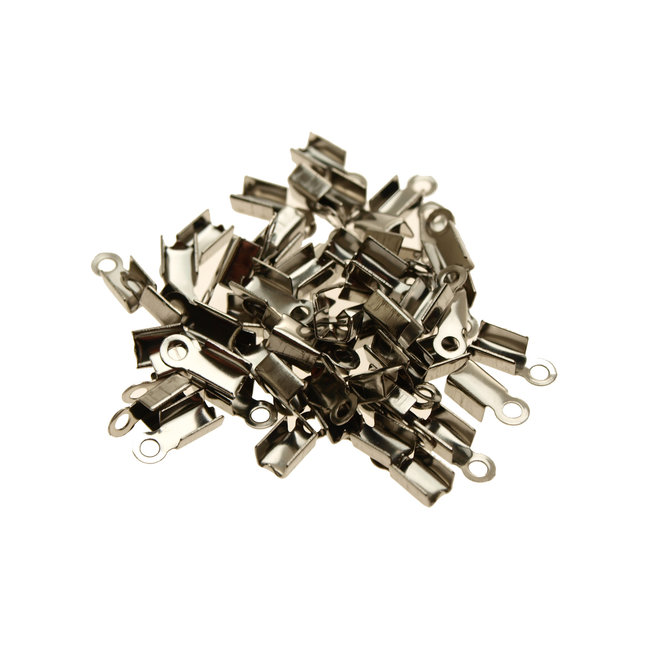 Stainless Steel Folding Crimp Ends 20 pieces