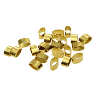 Oval brass tube 3 x 6 mm. height 3.5 mm.