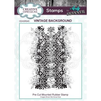 Creative Expressions Cling Stamp Vintage Background