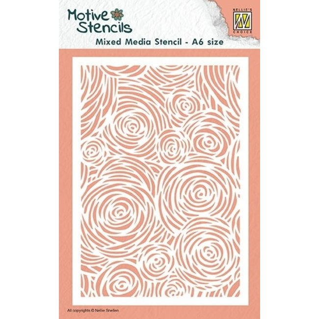 Nellie's Choice Mixed Media Stencil A6 Flowers