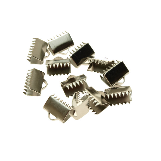 Stainless steel ribbon end width 10.5 mm. 10 pieces