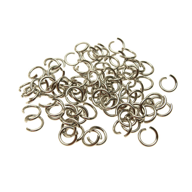Stainless steel rings 8 mm. thickness 1.2 mm. 50 pieces