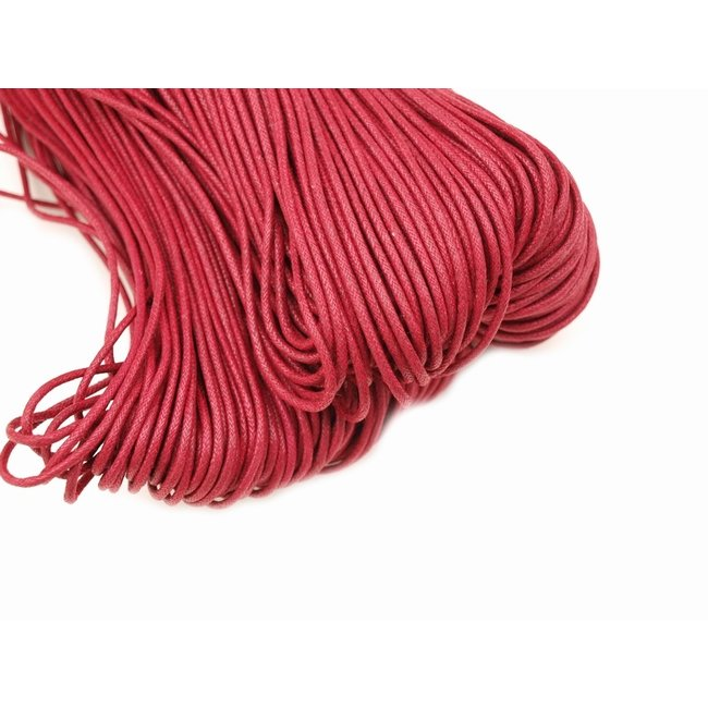 Wax cord Bordeaux thickness 2 mm. 3 meters