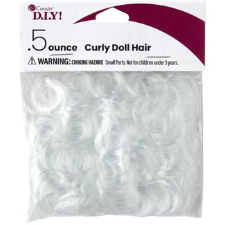 Cousin D.I.Y.! White Curly Doll Hair