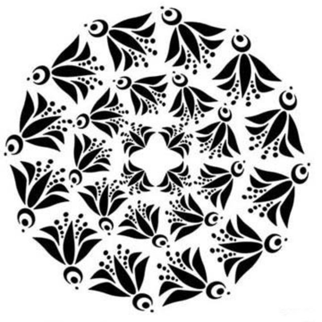 The Crafter's Workshop Stencil Mini Flying Bird Doily