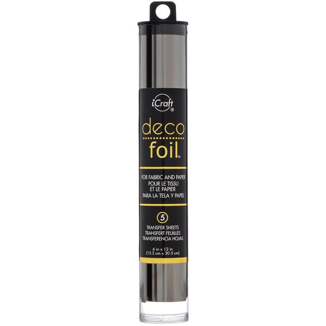 iCraft Deco Foil - Transfer Sheets - Pewter Folie