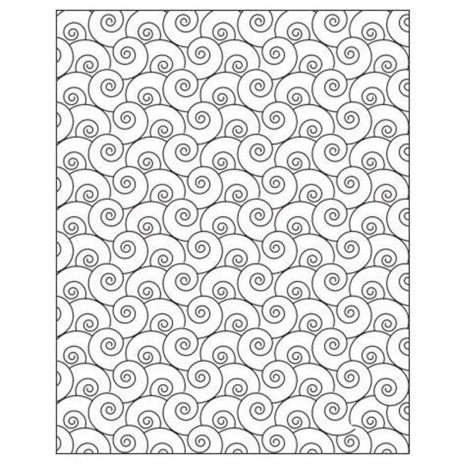 Lisa Pavelka Texture Stamp Swirly Q