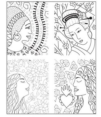 """Lisa Pavelka Texture Stamp """"About Face"""""""