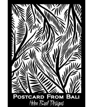 Helen Breil Design Silkscreen Postcard From Bali