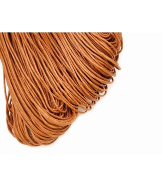 Wax cord Cognac Brown thickness 2 mm. 3 meters