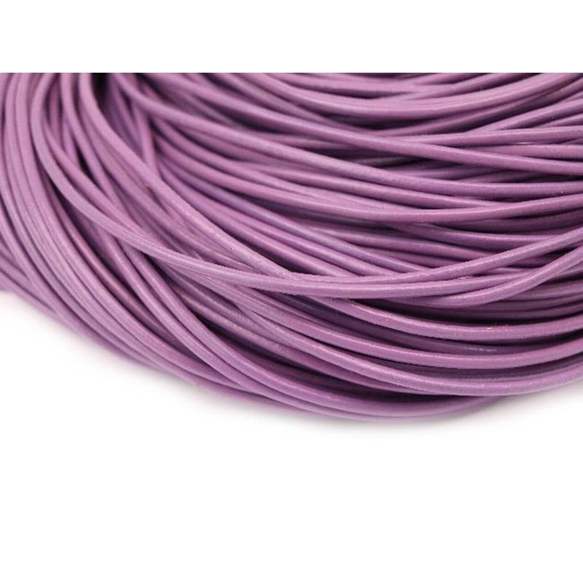 Purple Leather thickness 2 mm. lenght 3 meters