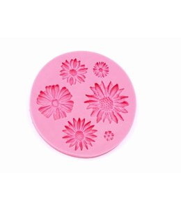 Silicone Mold Flowers diameter 7.8 cm.