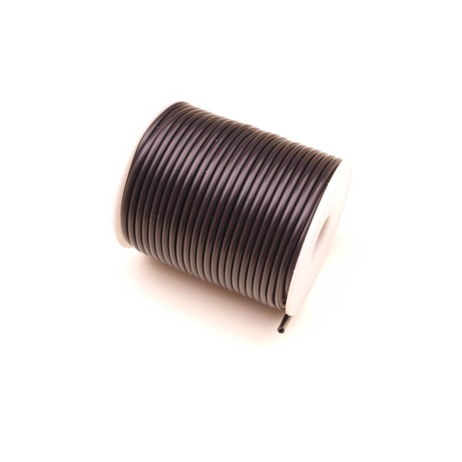 Rubber Cord Black hollow 3 mm. 3 meters