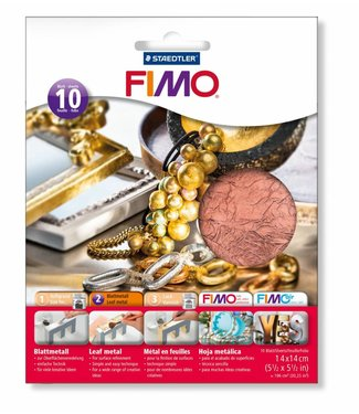 Fimo Sheet Metal Copper 10 sheets of 14 x 14 cm
