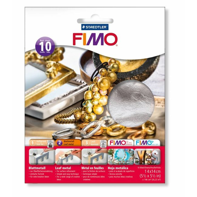 Staedtler Fimo Sheet metal Silver 10 sheets of 14 x 14 cm
