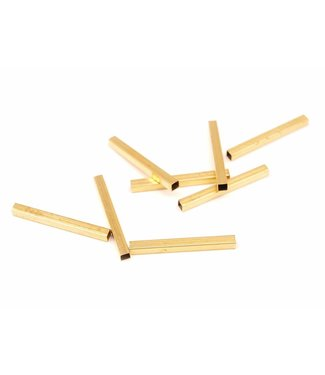 Square Brass tube 3 x 3 mm. length 30 mm.