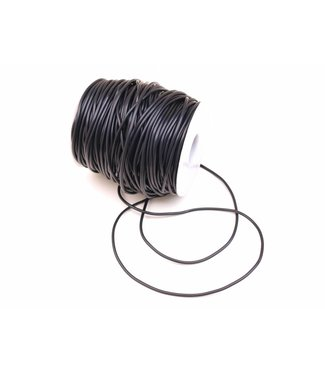 Rubber Cord Black 2 mm. 5 meters