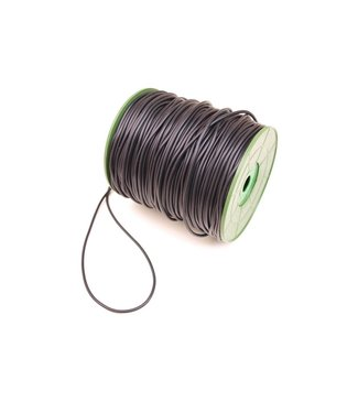 Rubber Cord Black 2.5 mm. 5 meters