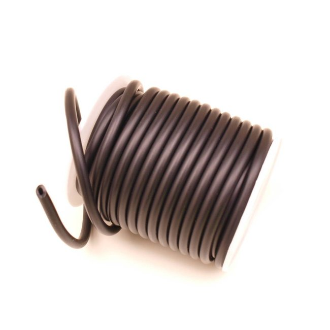 Rubber Cord Black hollow 5 mm. 3 meters