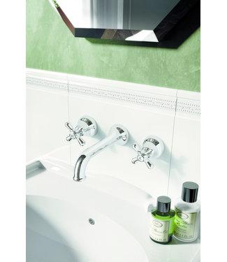 Hotbath Amice A005 - Wastafelmengkraan 3-gats met inbouwbrug