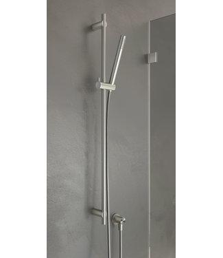 Hotbath Archie AR307 - Glijstang 90 cm met wanduitlaat,doucheslang 1,5 mtr en handdouche