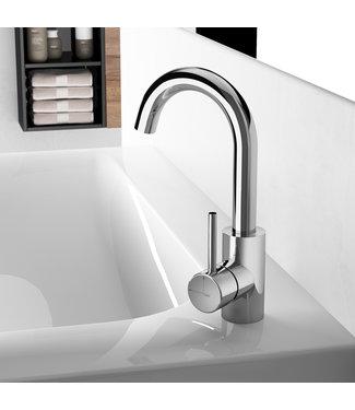 Hotbath Buddy B004 - Wastafelmengkraan met draaibare uitloop zonder waste