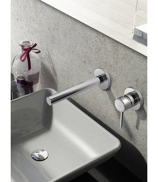 Hotbath Buddy B005 - Inbouw wastafelmengkraan met rechte uitloop CR