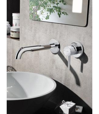 Hotbath Buddy B005J - Inbouw wastafelmengkraan met gebogen uitloop CR