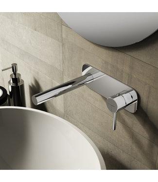 Hotbath Buddy B006 - Inbouw wastafelmengkraan met rechte uitloop CR