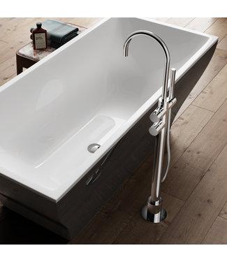 Hotbath Buddy B017 - Thermostatische badmengkraan met draaibare uitloop vloermontage
