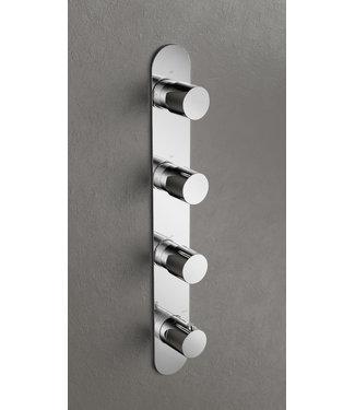 Hotbath Buddy B050 - Inbouw douche thermostaat met 3 stopkranen verticale plaatsing