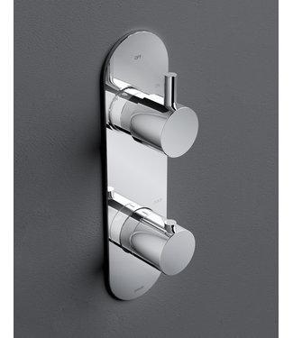 Hotbath Buddy B051 - Inbouw thermostaat met 2-weg omstel verticale plaatsing