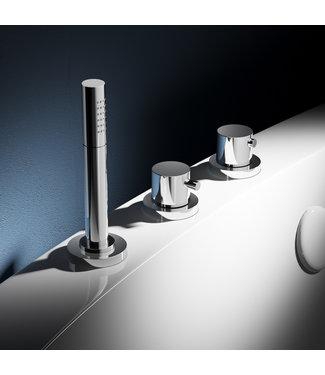 Hotbath Buddy B065 - Thermostatische badrandcombinatie zonder uitloop en 2-weg stopomstel