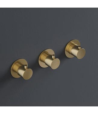 Hotbath Cobber CB7067 - Douche thermostaat met 2 stopkranen horizontale plaatsing