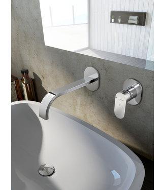 Hotbath Friendo F005C - Inbouw wastafelmengkraan cascade uitloop CR