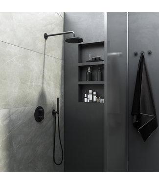 Hotbath Cobber IBS20A - Complete thermostatische douche inbouwset Cobber met 2-weg-stop-omstel